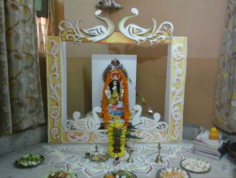 pooja decorations at home saraswati puja decoration saraswati pooja vasant