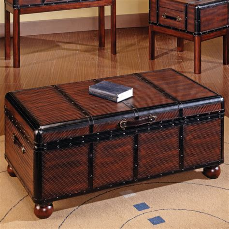 steve silver pacific trunk coffee table at hayneedle