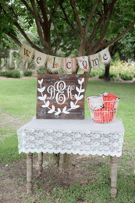 country shabby chic wedding decor shabby chic country wedding
