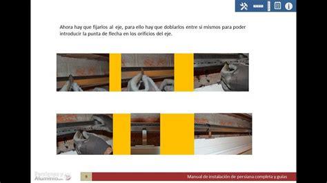 montar persiana manual de instalaci 243 n persiana con gu 237 as