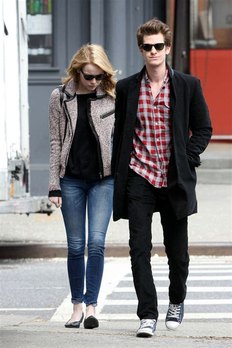emma stone boyfriend emma stone in emma stone and andrew garfield out together