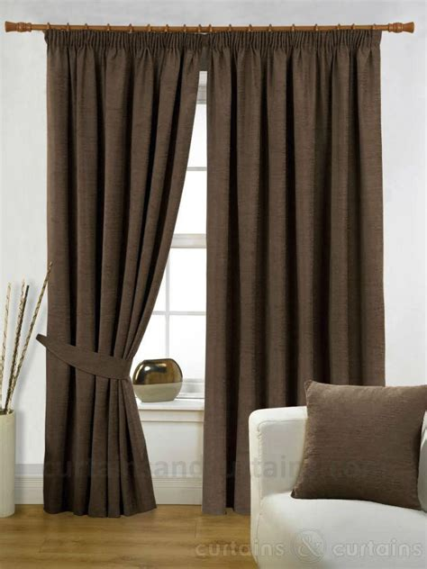 chenille curtains chenille chocolate heavy luxury pencil pleat curtain