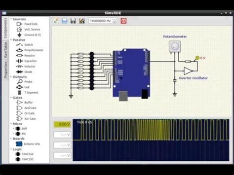 simulide  simulator arduino bargraph  youtube