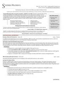Sles Of Executive Resumes by National Sales Executive Resume