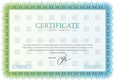 certificate format eps certificate and diplomas template royalty free vector clip