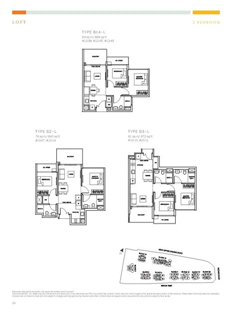 type l floor plan loft 2 bed the glades at tanah merah