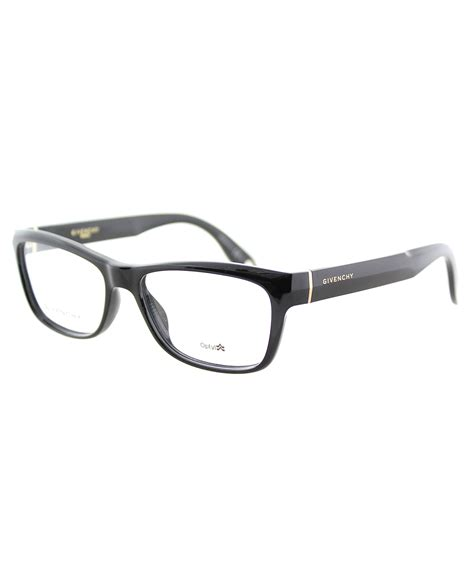 givenchy rectangle plastic eyeglasses in black lyst