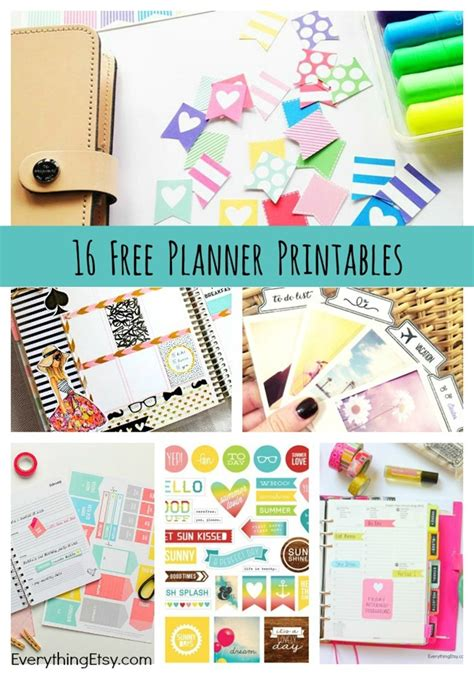 planner printables everythingetsycom