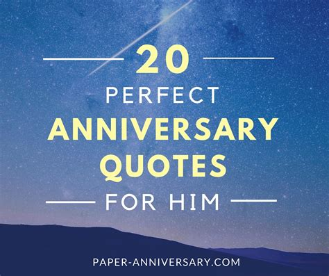 Wedding Anniversary Quotes For Boyfriend by 20 Anniversary Quotes For Him Paper Anniversary
