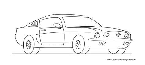 kid car drawing learn how to draw a car junior car designer