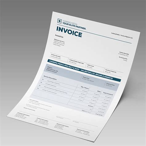 invoice template for designers 35 striking invoice designs web graphic design bashooka