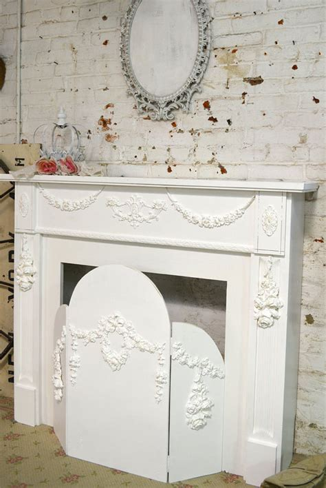 painted cottage shabby chic fireplace screen screen 179 00 the painted cottage vintage