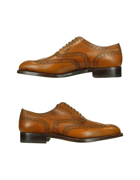 wingtip shoes lyst moreschi oxford calfskin wingtip shoes in