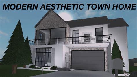 roblox   bloxburg modern aesthetic town home