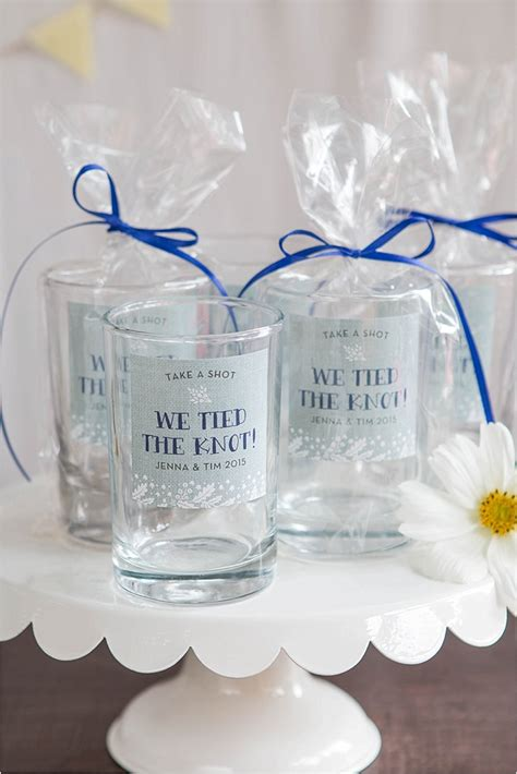 Simple Wedding Giveaways - favor friday shot glass favors weddings ideas from evermine