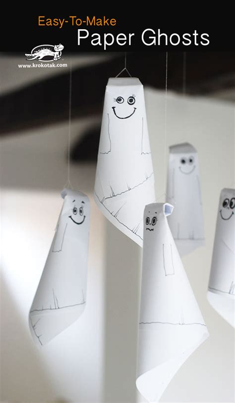 How To Make Paper Ghost For - krokotak easy to make paper ghosts