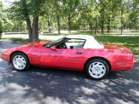 airbag deployment 1992 chevrolet corvette security system find used 1992 corvette convertible in cary illinois united states