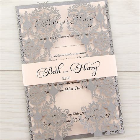 Uk Wedding Invitations by Rosa With Belly Band Invitation Wedding Invites