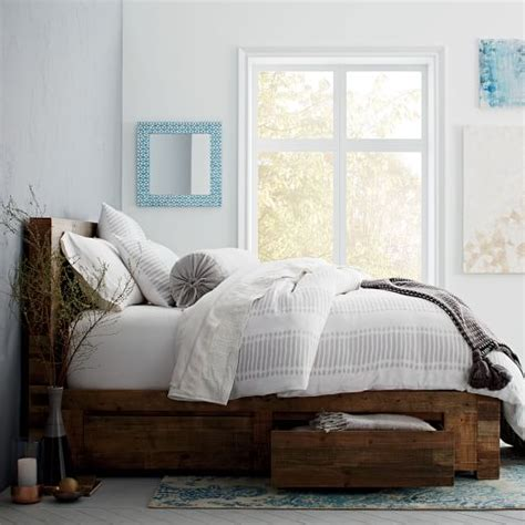 west elm emmerson bed emmerson 174 reclaimed wood storage bed natural west elm