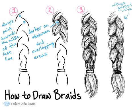 how to do doodle braids how to draw braids by leharc blueheart on deviantart