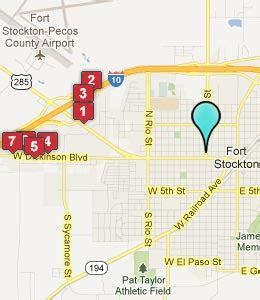 map of fort stockton texas fort stockton texas hotels motels see all discounts