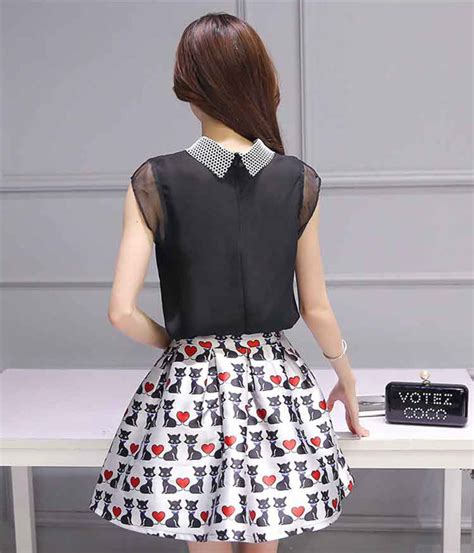 Baju Wanita Gambar Modis Korea Bb452 baju setelan rok pendek wanita korea cantik dan modis a3017