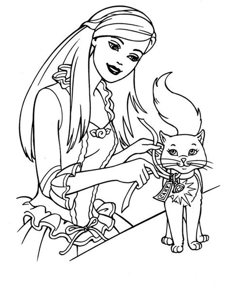 barbie dog coloring page barbie playing with dog coloring pages gianfreda net