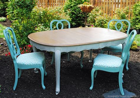 Painted Dining Table And Chairs Painted Dining Table Uniquely Yours Or Mine