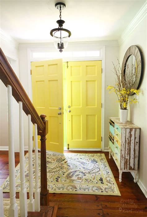 benjamin moore tranquility indoor porch paint colors good day sunshine yellow painted doors pretty handy girl