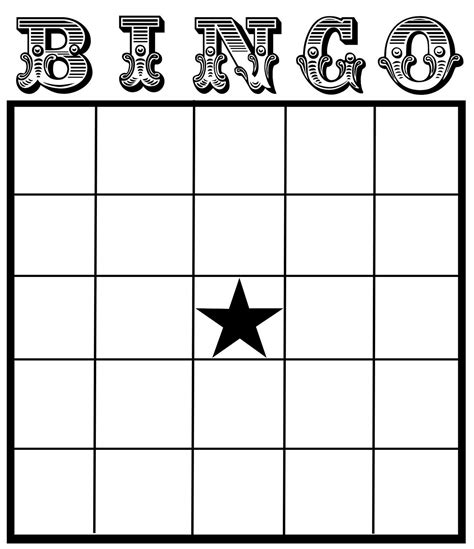 Blank Bingo Card Template printable blank bingo cards template
