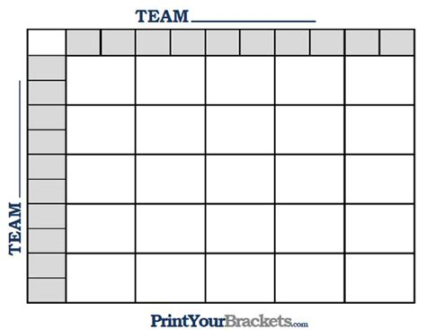 football squares template excel printable nfl football 25 square grid office pool
