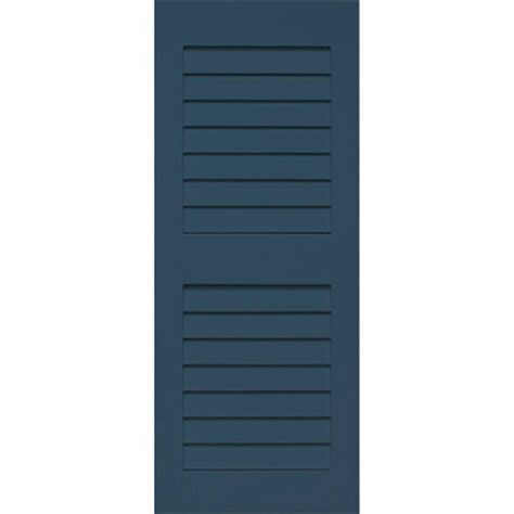 Home Fashion Technologies Plantation 14 In X 29 In Solid Home Depot Exterior Shutters