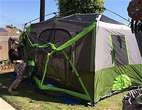 tent with screen room attached ozark trail 9 person 2 room instant cabin tent with screen room reviews trailspace