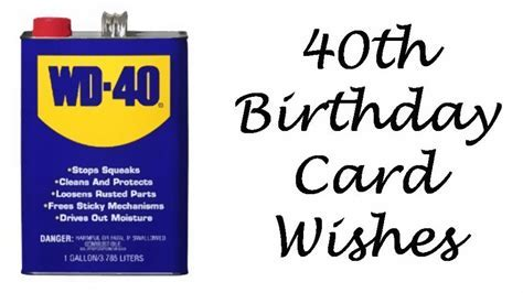 40th Birthday Wishes, Messages, and Poems to Write in a