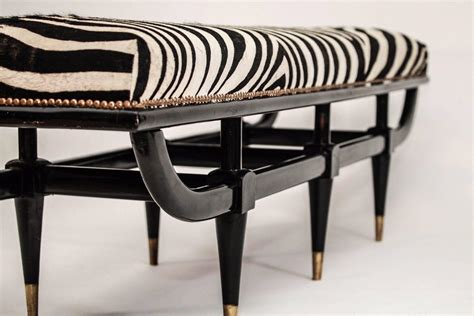 zebra bench mid century italian zebra bench for sale at 1stdibs