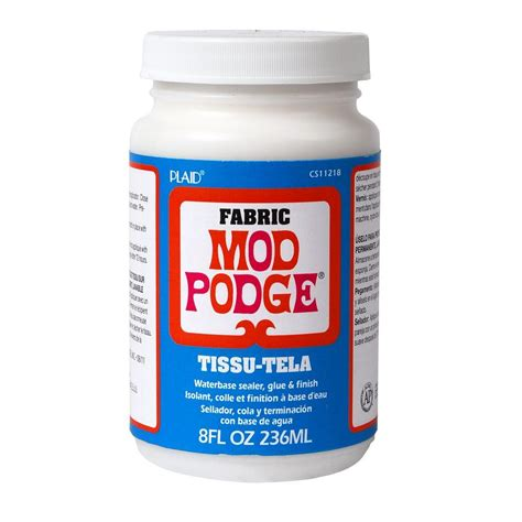 Decoupage Modge Podge - mod podge 8 oz fabric decoupage glue cs11218 the home depot