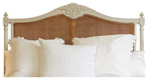 country french headboards louis xvi french country oyster natural cane queen