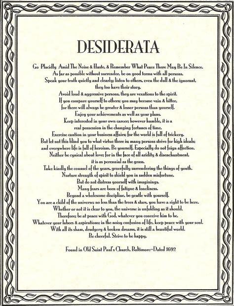 printable version desiderata desiderata poem pdf pictures to pin on pinterest pinsdaddy