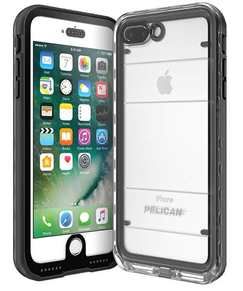 pelican c24040 001a bkcl marine waterproof iphone 7 plus black clear vip outlet
