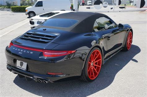 red porsche black wheels red wheels for porsche giovanna luxury wheels
