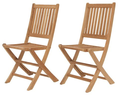 amazonia teak teak folding chair contemporary