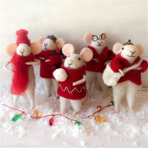 images of christmas mice quot merry little christmas quot plush mouse mice ornament set
