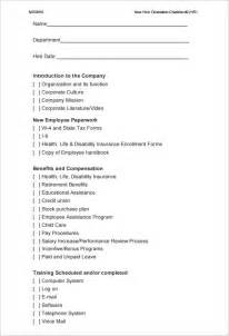 Function Checklist Template by Doc 585646 New Hire Checklist Template New Hire