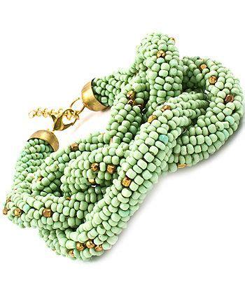 Handbag Cellini Wakoka Mint beaded bracelet the stuff