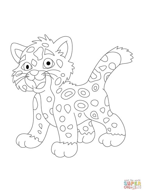 coloring pages baby jaguar baby jaguar coloring online super coloring