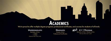 Mba Political Science Undergrad by Academics Political Science Of Colorado Denver