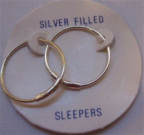 Self Piercing Sleeper Earrings by H13 Sleepers Earrings 1 20 Sterling Silver Filled