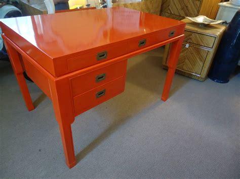 Orange Desk L by Striking Herm 232 S Orange Lacquered Desk At 1stdibs