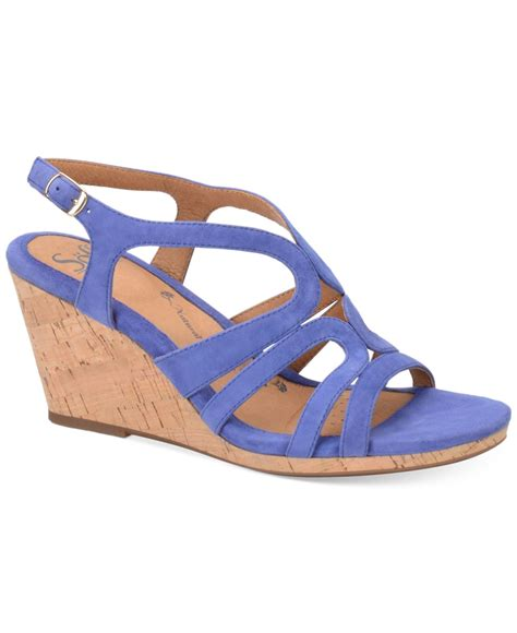 blue wedge sandals s 246 fft corinth platform wedge sandals in blue lyst