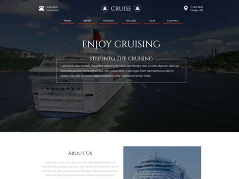 bootstrap templates for travel free download cruise free bootstrap travel template freemium download